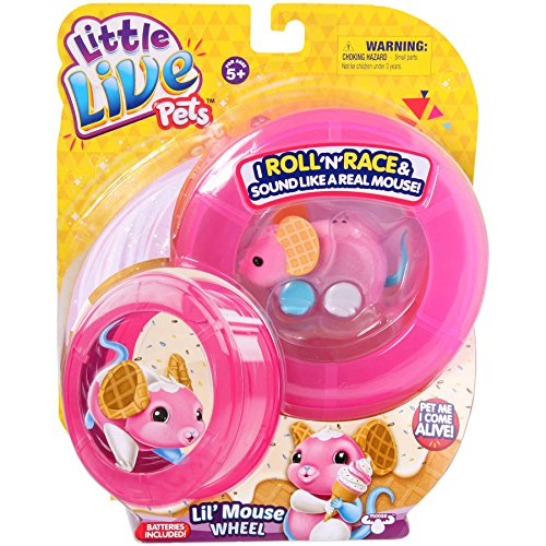 Moose Toys Little Live Pets S2 Lil' Mouse Wheel, Waffles (Lil Mermaid Shoes compare prices)