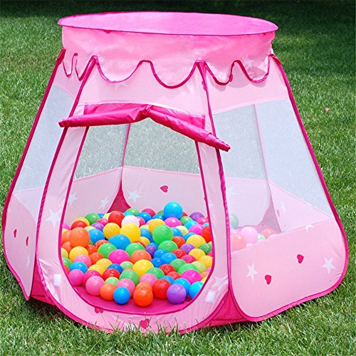 Pink Princess Play Tent - Balls Not Included