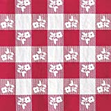 Creative Converting 50 Count Beverage Napkins, Red Gingham by Creative Converting