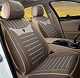 (ファーストクラス)FirstClass シートカバー リネン 全席シートクッション 5人乗り車汎用 コルベット ブラウン 6pcs