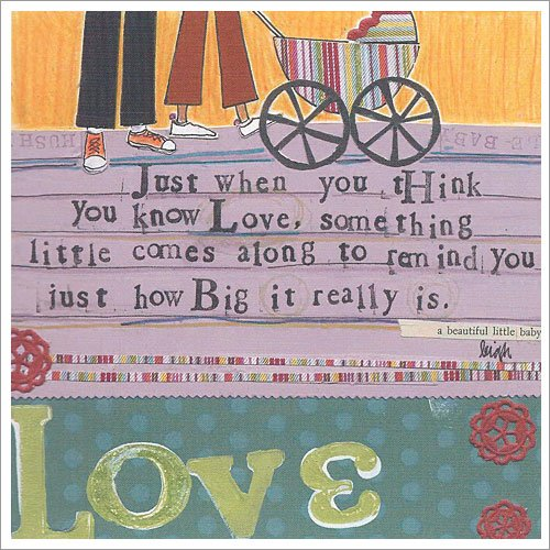 Curly Girl - SQBL1 - BABY LOVE Greeting Card