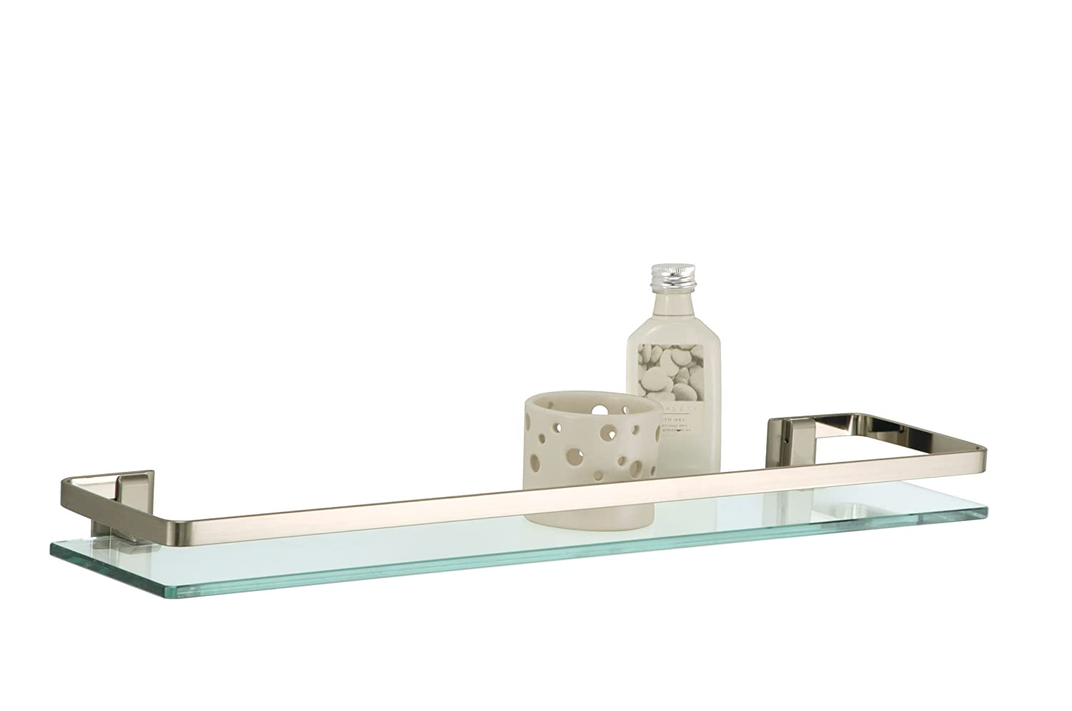Organize It All 16911 Glass Shelf with Nickel finish and Rail at Sears.com