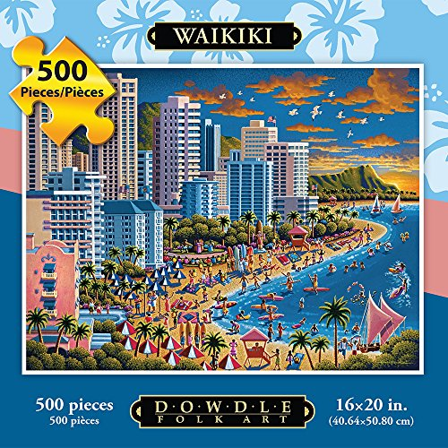 Jigsaw Puzzle - Waikiki 500 Pc By Dowdle Folk Art