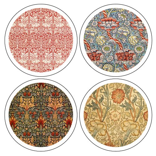 Coasterstone as9640 william morris textiles collection for Best coasters for sweaty drinks