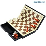 """[MYUNGINLAND] M100 Small Magnetic Chess Set - 10.2"""""""