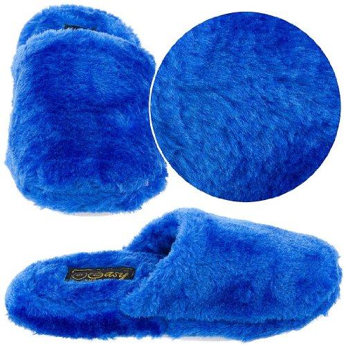 Cheap Royal Blue Slip On Slippers for Women (B00415C6AM)