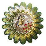 Woodstream Europe Limited's Iron Stop DASEP120-10 25cm Animated Butterfly Windspinner - Sepia