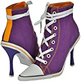 Anne Michelle Nowell-01 Purple Women Casual Boots