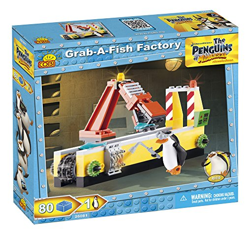 COBI The Penguins of Madagascar Grab-A-Fish Factory Building Kit - 1
