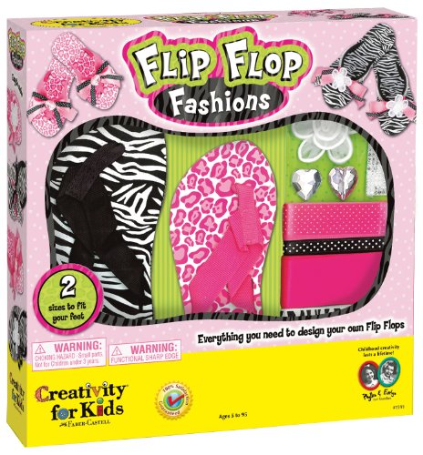 Make Your Own Flip Flop Fashion Kit - Makes 2 Pairs - One For You, One For A Friend front-641321