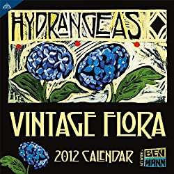 Vintage Flora 2012 Wall Calendar