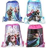 Disney Frozen Anna,elsa and More Non-woven String Backpack for Kids Children's School (Model 4)