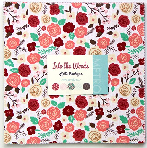 Moda Into The Woods Layer Cake, Set Of 42 10-Inch (25.4Cm) Precut Cotton Fabric Squares front-88650