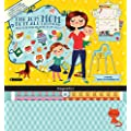 Orange Circle Studio 2015 Do It All 17-Month Magnetic Wall Calendar, Mom's Do It All (15545)