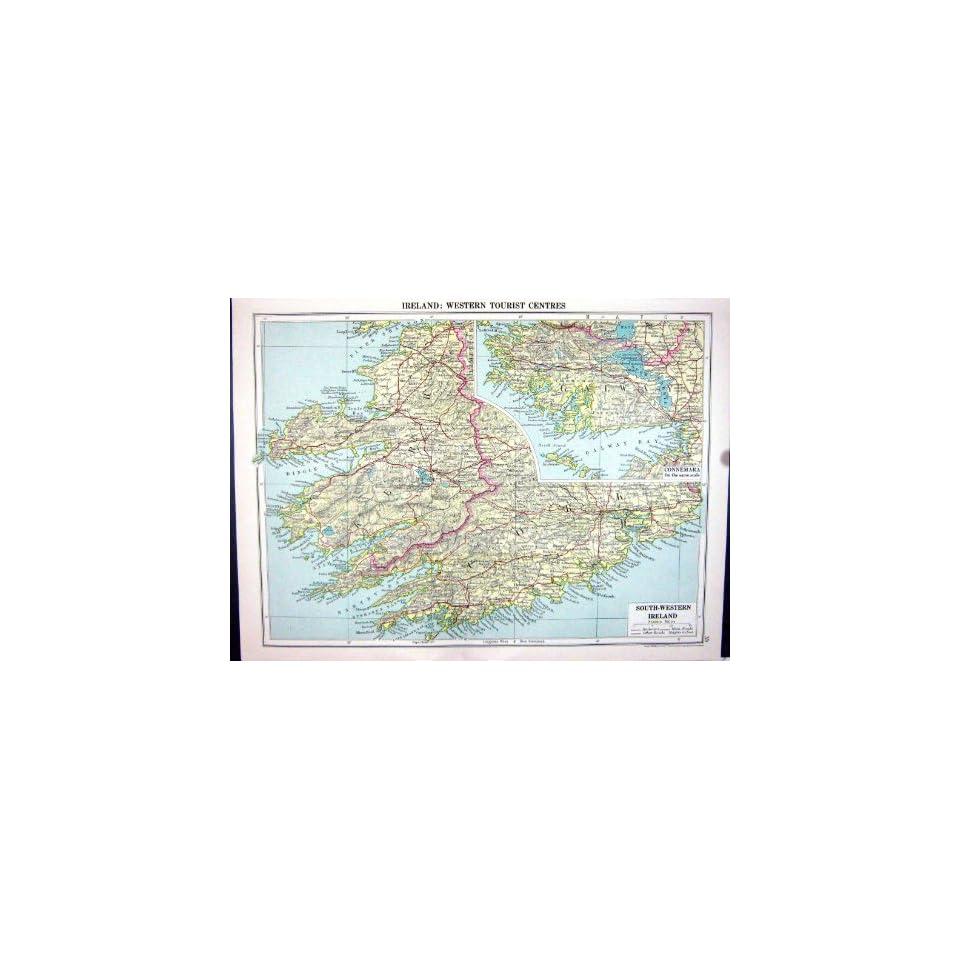 Dingle Bay Ireland Map.Cassell Antique Map 1920 Ireland Connemara Dingle Bay Parliamentary