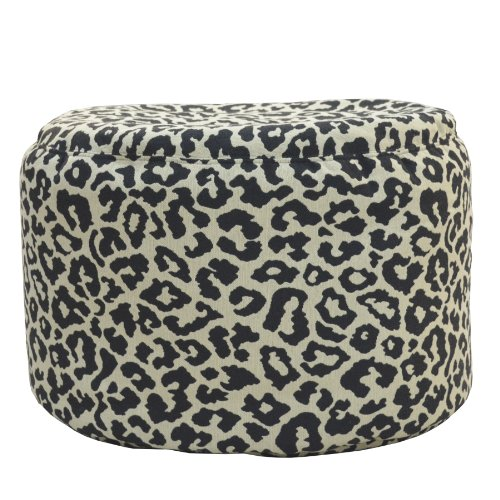 Carolina Cottage Addison Born Free Round Pouf Ottoman, Magic