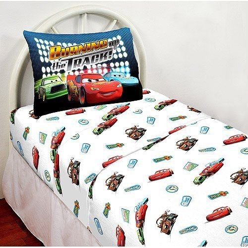 disney pixar cars lightning mcqueen twin sheet set