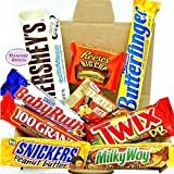 Mini American All Chocolate Hamper Candy/Chocolate/Sweets Christmas/Birthday Gift - in a White Card Box