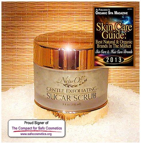 Naturoli Gentle Exfoliating Sugar Scrub - 3.4 Oz. Superb, Gentle Facial / Body Exfoliator. Cleanses, Polishes & Rejuvenates Dull Skin. Nutrient Rich! 100% Natural! - Sulfate Free! Gluten Free! - Made In Usa!