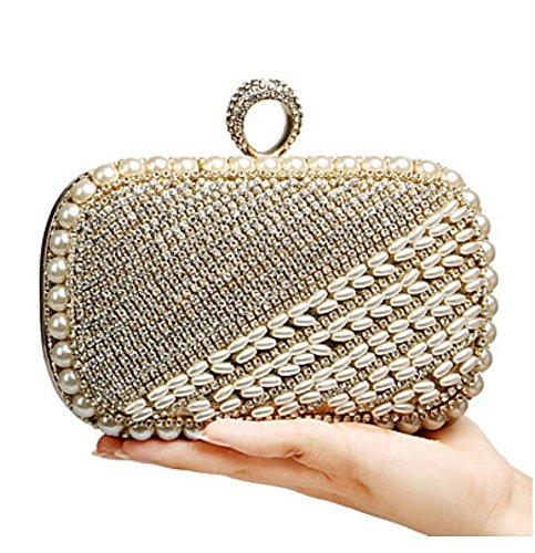 XSLhandbag Donna Poliestere Formale Casual Serataevento Matrimonio Ufficio e lavoro Shopping Borsa da sera , gold