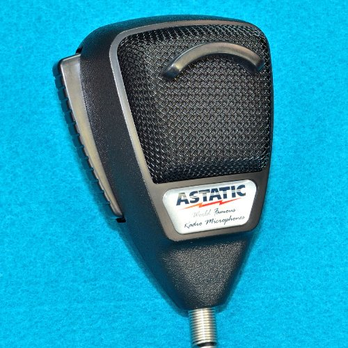 Astatic 636Lb1 Black Noise Canceling Cb Microphone - Bulk Packed