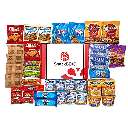 Care Package for College Students, Military, Birthday, Mother's Day, Father's Day, or Back to School (40 Count) From Snack Box (American Care Package compare prices)