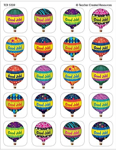Teacher Created Resources Hot Air Balloons Stickers (5339)
