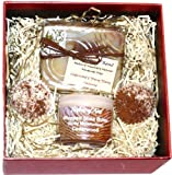 Fentons of Kent Handmade Natural Gift Set - Cedarwood contains a natural Ceadrwood & Ylang Ylang Soap 110g, Cedarwood Whipped Shea Butter (Body Butter) 35g & 2 Cedarwood Bath Melts (15g each) - all made with essential oils