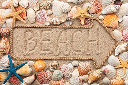 """Papillon """"Beach Arrow"""" - Tappetino da bagno super assorbente, in poliestere, motivo: freccia che indica la spiaggia, multicolore, 60 x 40 cm"""