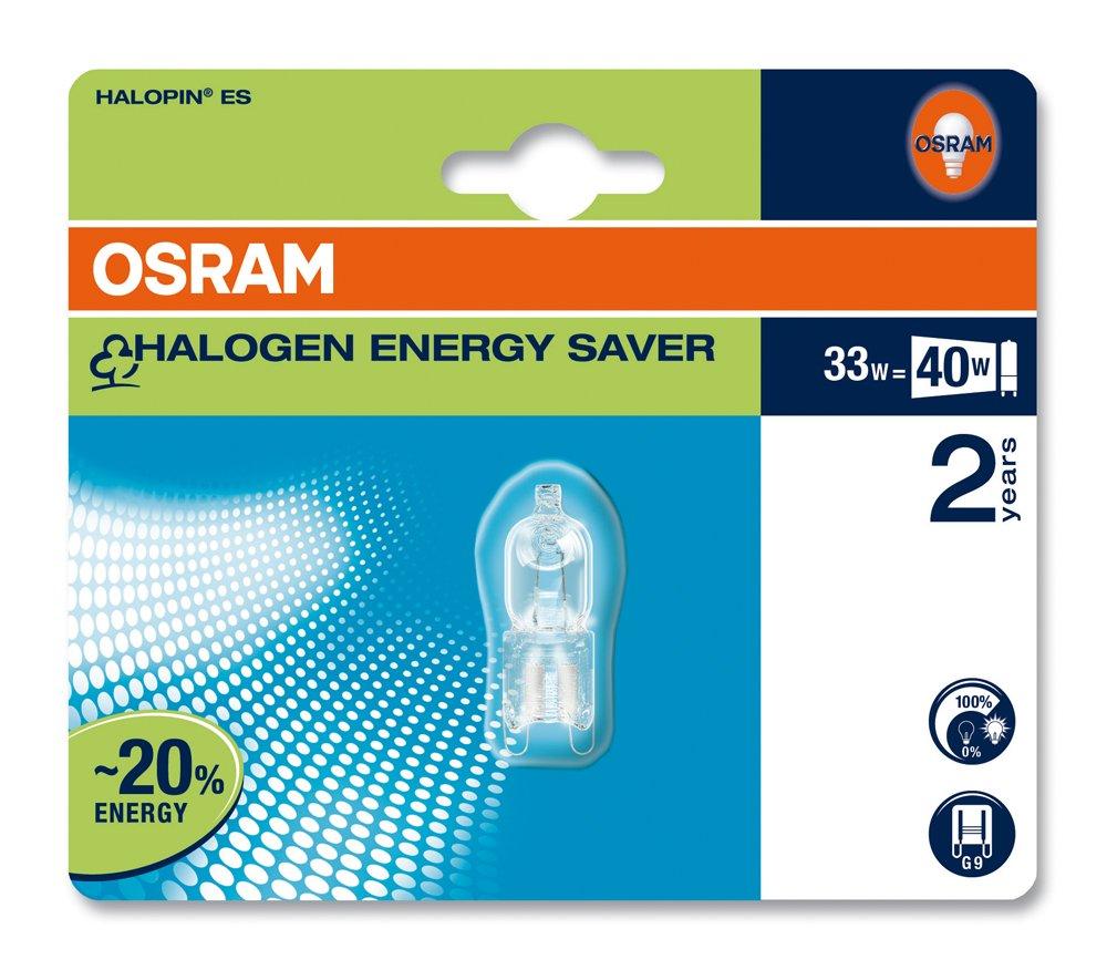 Osram Halopin Eco - Lámpara (33W, G9, 460 lm, C, 230V)   más noticias y comentarios