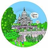 PARIS SB922G - plato de postre, coleccionistas, asunto: Montmartre