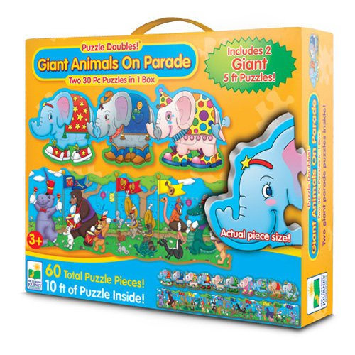 The Learning Journey Puzzle Doubles Giant Animals On Parade