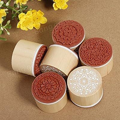easyshop Geordneter Blumenweinlesestil runde Gestalt Holzgummistempel von easyshop4u - Gartenmöbel von Du und Dein Garten