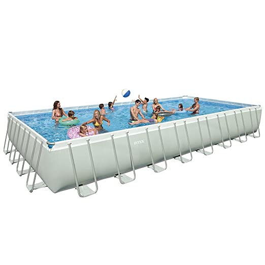 Intex 28375EH Ultra Frame Pool Set, 32-Feet by 16-Feet by 52-Inch