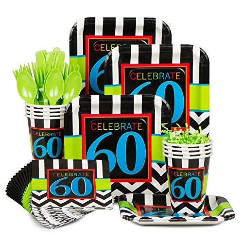 Chevron Mix 60Th Birthday Standard Kit (Serves 8)