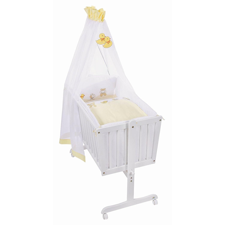 Easy Baby Wiege Komplettset antik, Niki Animals yellow 183-29