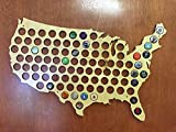 Beer Cap Map, Beer Cap Holder, Beer Cap USA Map, Cap Map, Cap Maps, Beer Cap Maps, Beer Cap Holders, Craft Beer State Map, Beer Lovers