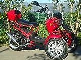 IceBear(アイスベアー) リバーストライク 150cc逆三輪 逆トライク バイク ズーマー風 普通免許 赤 HL150DZR