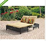 Double Chaise Lounger-You can relax outdoors in your patio, garden or backyard on your double chaise lounger. Enjoy the comfort in the adjustable positions available. Unwind on its sturdy steel frame and polyester filled cushions. Beauty and comfort.