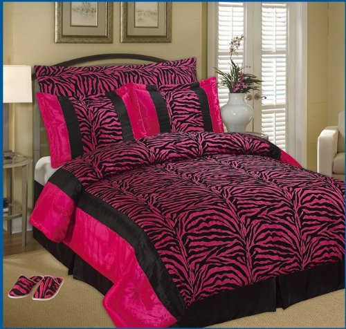 pink zebra print bedding set zebra bedroom decorating ideas - Zebra Bedroom Decorating Ideas