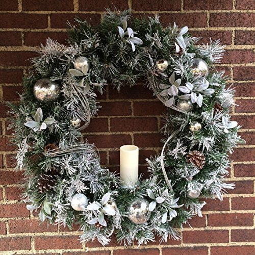 led pre lite 36 christmas wreath xl cordless wreath holiday decorcandle holiday wreath timer lighted wreath