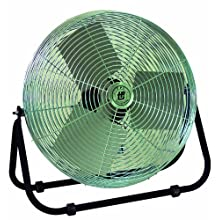 "TPI Corporation F24-TE Industrial Workstation Floor Fan, Single Phase, 24"" Diameter, 120 Volt"