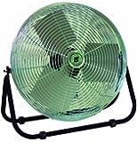 "TPI Corporation F24-TE Industrial Workstation Floor Fan, Single Phase, 24"" Diameter, 120 Volt"