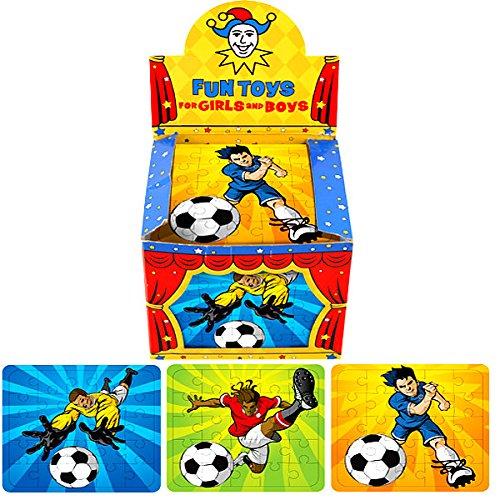 German Trendseller® - 3 x Fußball Puzzle ? Ball Zauberer ? Fußball - Party ? Kinder lieben diese Fußballer Puzzle !