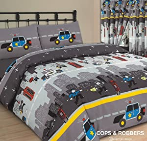 Double Bed Duvet / Quilt Cover Bedding Set, Cops And ...
