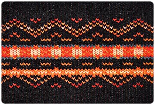 DECO-MAT | TAPIS MEXICAIN / MARRON-ROUGE | paillasson antidérapant | tapis d'entrée 40 x 60 cm sans bordure | haute absorbation de la saleté grâce aux fibres de polyester | facile à nettoyer avec 7 ans de garantie