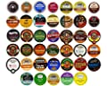 Coffee, Tea, and Hot Chocolate Variety Sampler Pack for Keurig K-Cup Brewers, 40 Count from Crazy Cups