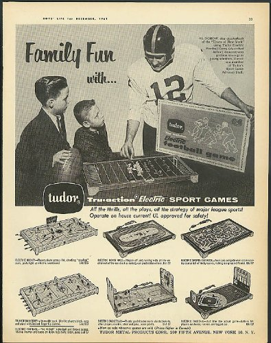 New York Titans Qb Al Dorow For Tudor Electric Football Game Ad 1961
