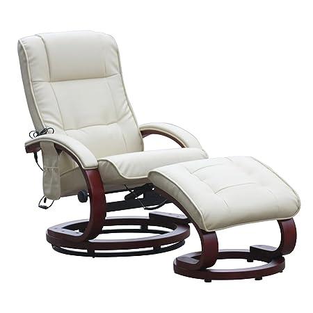 Fernsehsessel Relaxsessel Pescatori II, Massagefunktion ~ weiß/creme