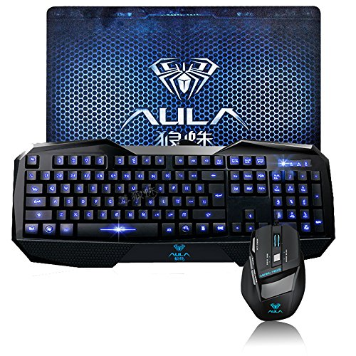 awardpedia death wings aula shz gaming keyboard and mouse combo backlit wired usb with gaming. Black Bedroom Furniture Sets. Home Design Ideas